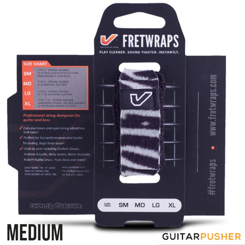 Gruv Gear FretWraps String Muters (1-Pack) HD 'Zebra'
