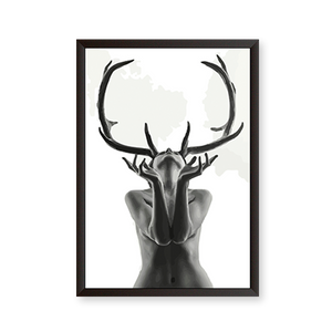 Woman With Black Antlers