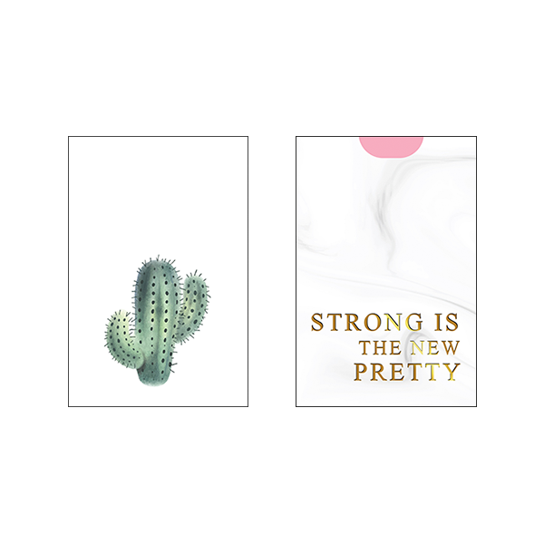 Strong Is The New Pretty - Set of 2 Frames