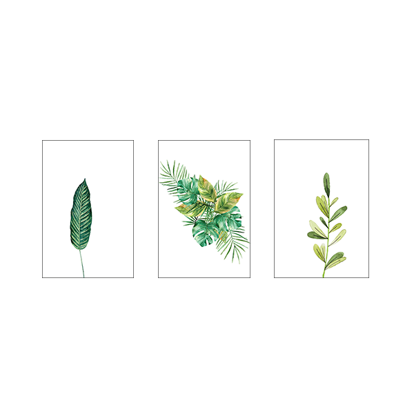 Just Leaves #3B - Set of 3 Frames