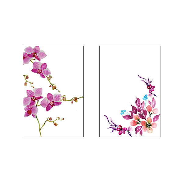 Flowers #2J - Set of 2 Frames