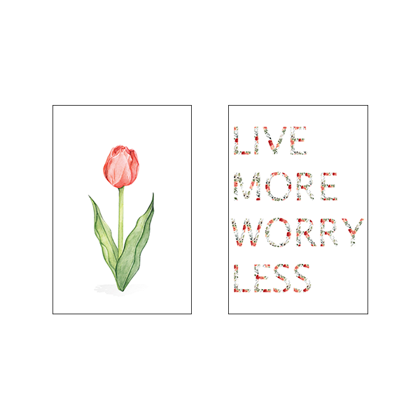 Live More Worry Less - Set of 2 Frames