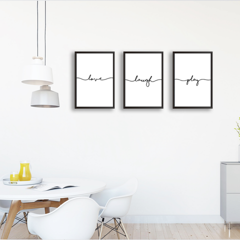 Love Laugh Play - Set Of 3 Frames