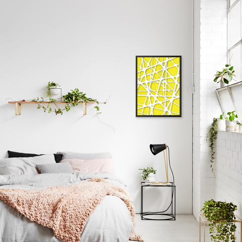 Abstract Geometric Yellow