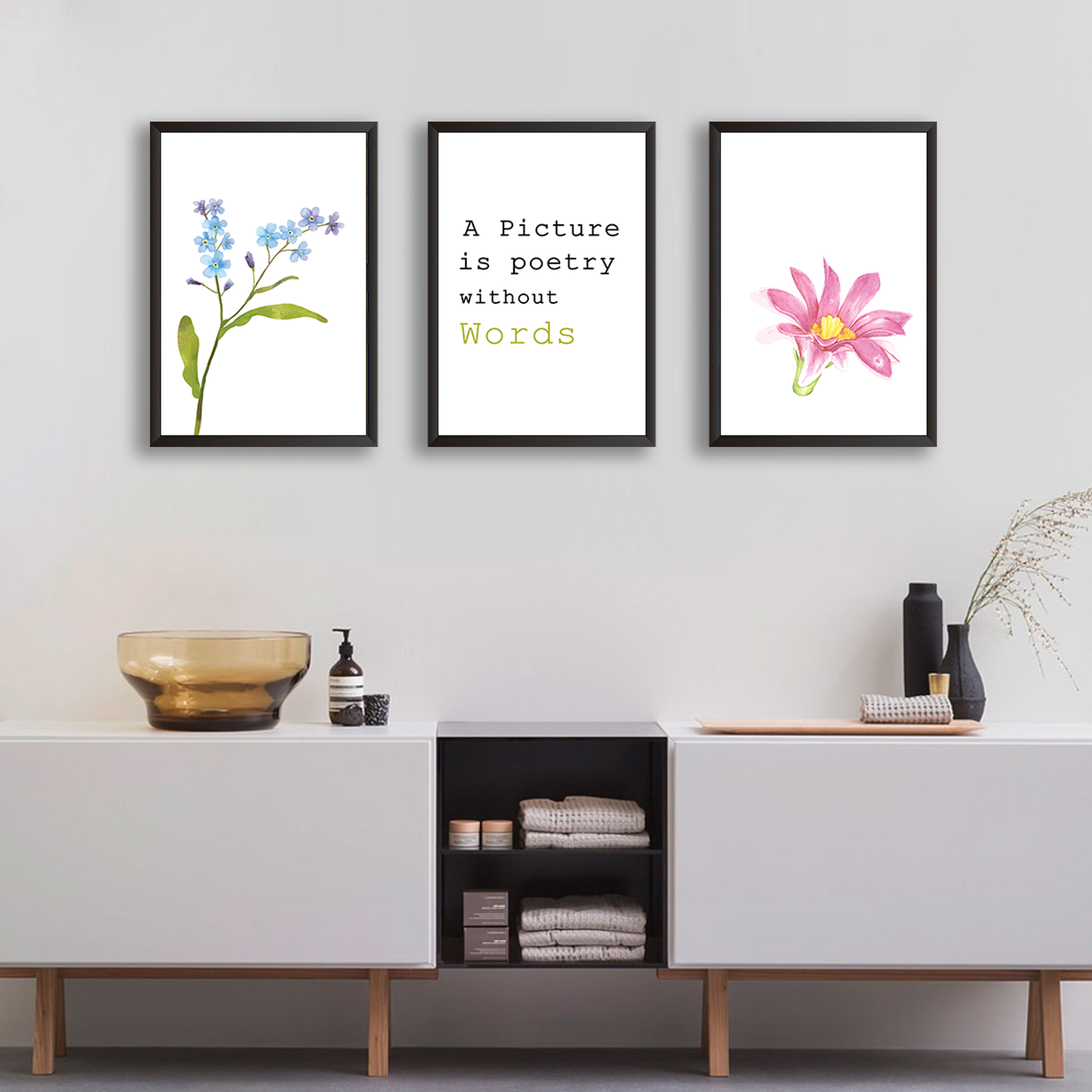 Picture Is A Poetry - Set of 3 Frames
