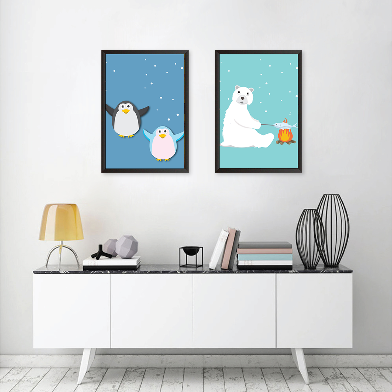 Happy Artic Feel - Set of 2 Frames