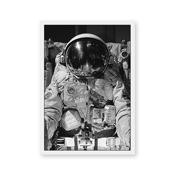 Black And White Astronaut