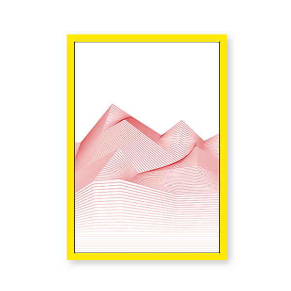 Line Art Mountains