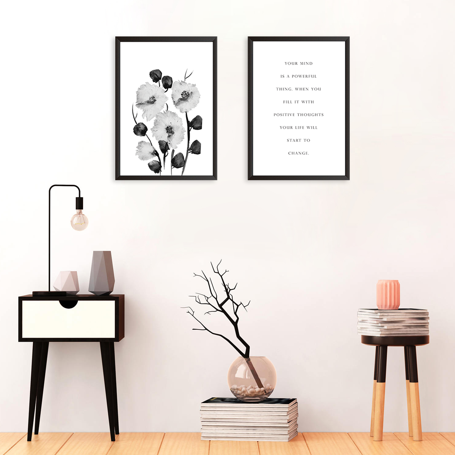 Mind Is A Powerful Thing - Set of 2 Frames