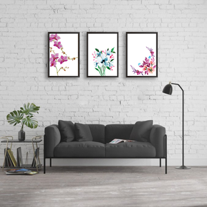 Just Flowers - Set of 3 Frames - urban-karigars