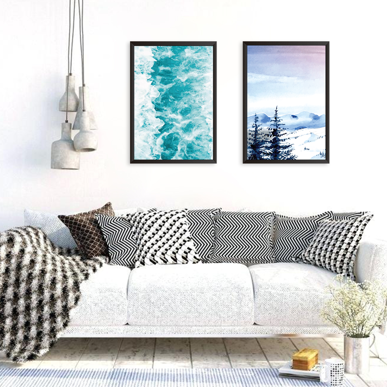 Mountains & Ocean - Set of 2 Frames