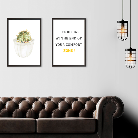 End Of Your Comfort Zone - Set of 2 Frames