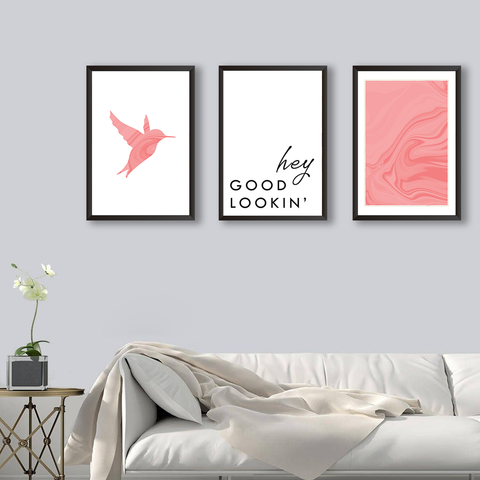 Hey Good Lookin' - Set of 3 Frames