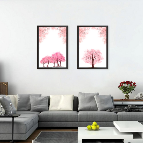 Beautiful Pink Trees - Set of 2 Frames
