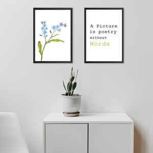 A Picture Quote With Flowers - Set of 2 Frames