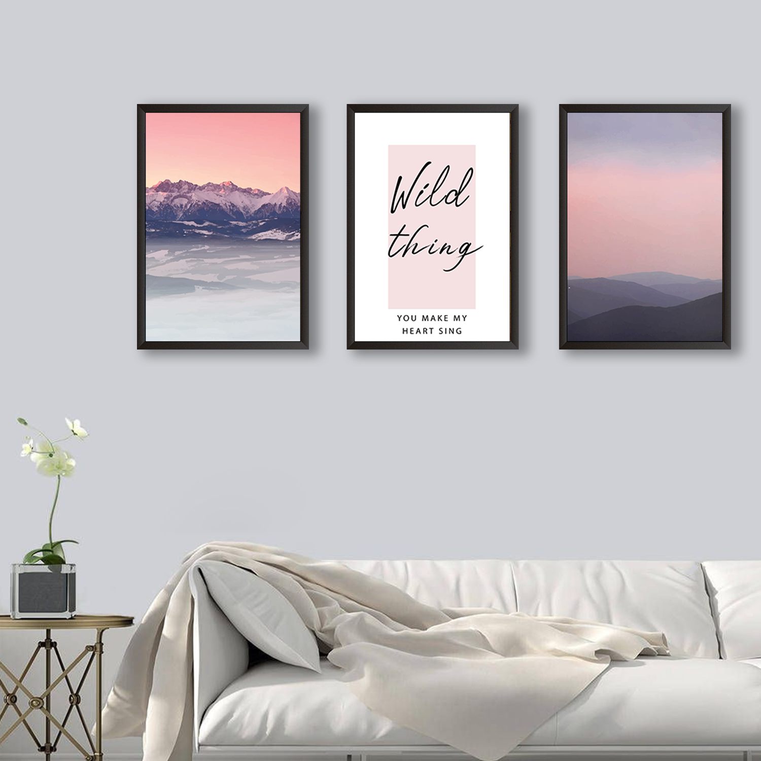 Wild Thing - Set of 3 Frames
