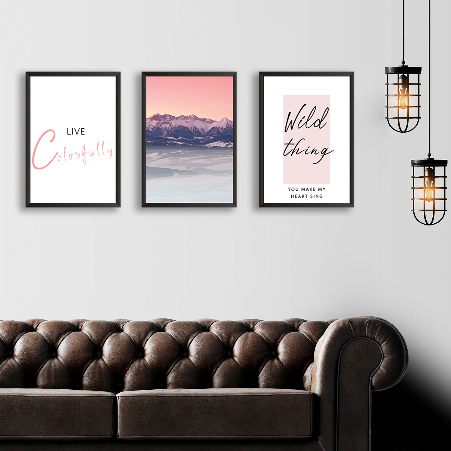 Live Colorfully - Set of 3 Frames
