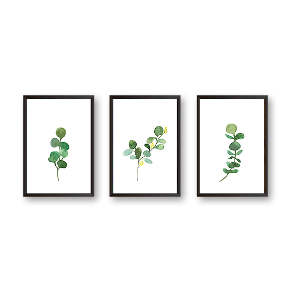 Watercolor Leaves - Set of 3 Frames