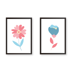 Flowers #2C - Set Of 2 Frames - urban-karigars