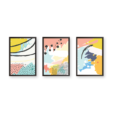 Colorful Abstract - Set of 3 Frames