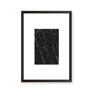 Abstract Black Marble Art