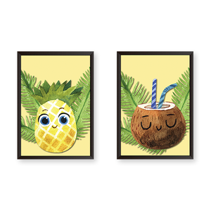 Happy Summer Coolers - Set of 2 Frames