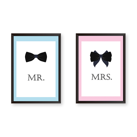 Mr. & Mrs. Set of 2 Frames