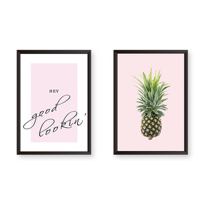 Hey Pineapple - Set of 2 Frames
