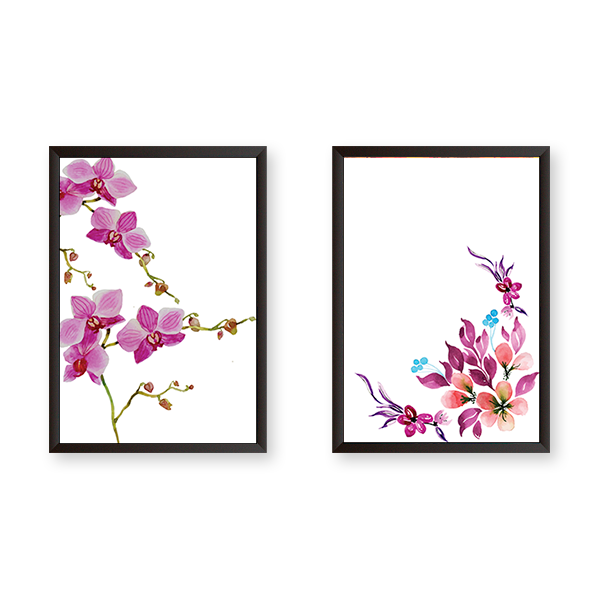 Flowers #2J - Set of 2 Frames - urban-karigars