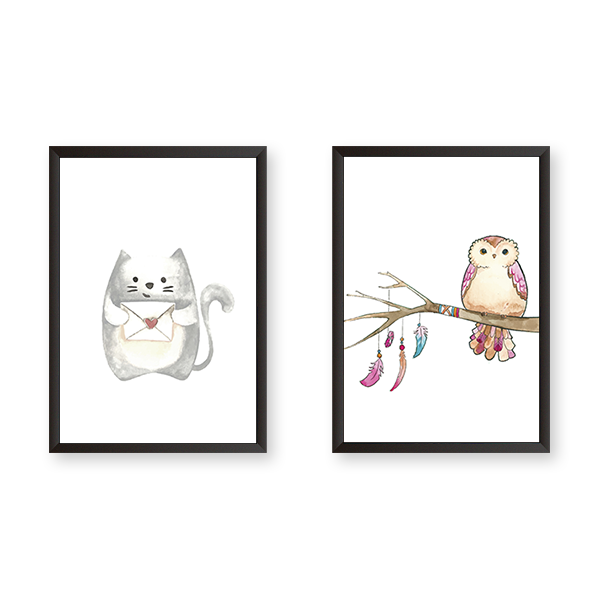 Cute Art - Set of 2 Frames - urban-karigars