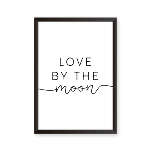 Love By the Moon Quote - urban-karigars