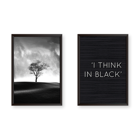 I Think in Black - Set of 2 Frames