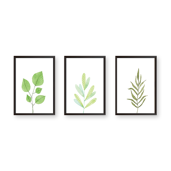Just Leaves - Set of 3 Frames - urban-karigars