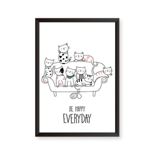 Be Happy Everyday - Scandinavian Art