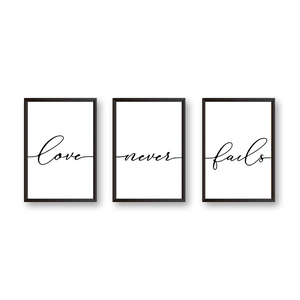 Love Never Fails - Set of 3 Frames - urban-karigars