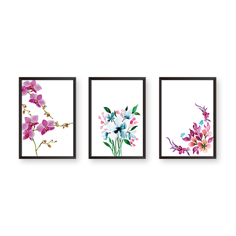 Just Flowers - Set of 3 Frames