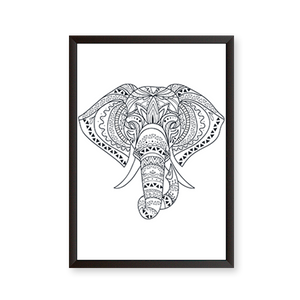 Ethnic Line Art Elephant