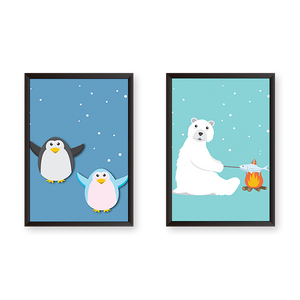 Happy Artic Feel - Set of 2 Frames - urban-karigars