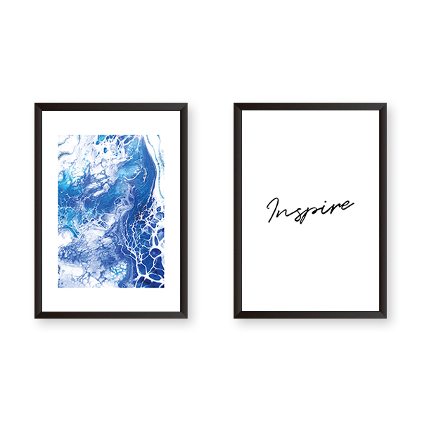 Inspire With Blue Abstract Ocean - urban-karigars