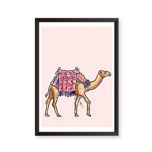 Watercolor Illustration Camel