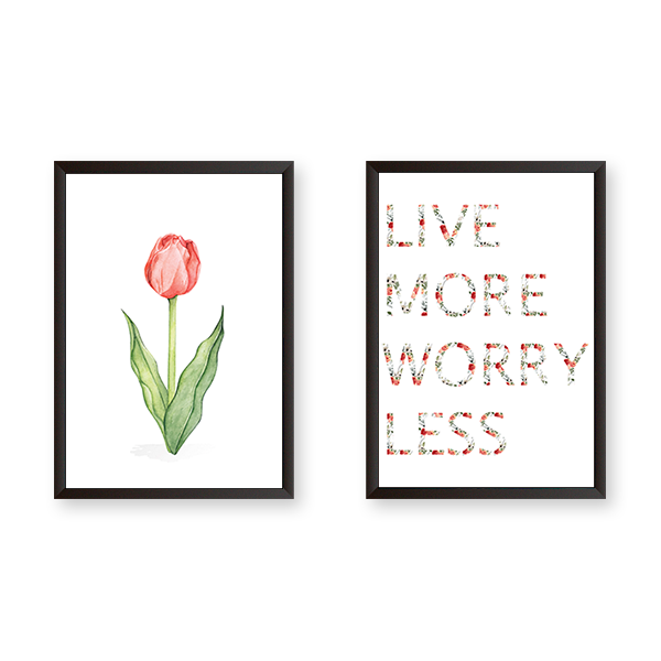 Live More Worry Less - Set of 2 Frames – Urban Karigars