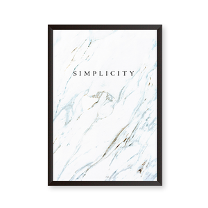 Simplicity Quote - Marble Texture - urban-karigars