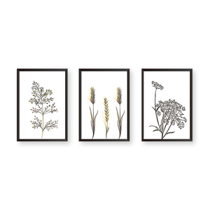 Leaves #3G - Set of 3 Frames