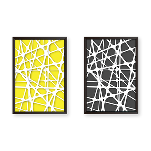 Abstract Geometric Set of 2 Frames