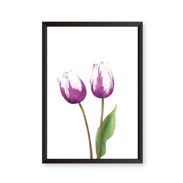 White And Purple Flower - urban-karigars