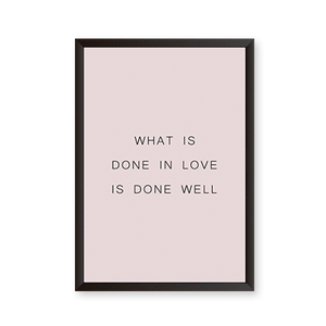 Done in love - Quote