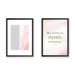 Never I Will Leave You - Set of 2 Frames