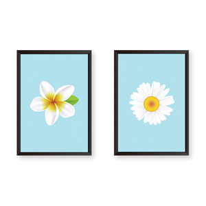Just Flowers #2A - Set of 2 Frames