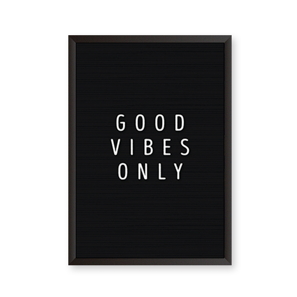 Good Vibes Only #D - urban-karigars
