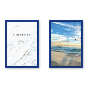 Beachy With Simplicity Quote - Set of 2 Frames - urban-karigars